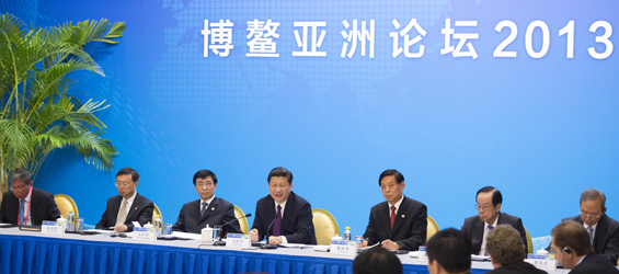 "Xi says China to sustain ""relatively high"" growth"
