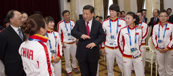 Xi boosts Chinese athletes' morale in Sochi