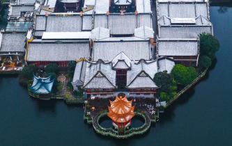 寧波:雪落月湖