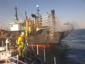 韓國漁船起火釀死傷 一名中國公民失蹤