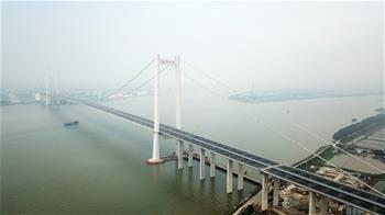 一橋飛架珠江口 南沙大橋通車