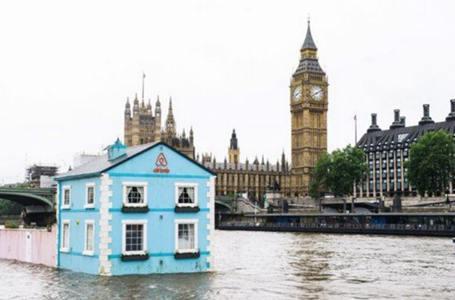"""不尋常的房子:""""漂移房子""""可供遊客賞倫敦"""