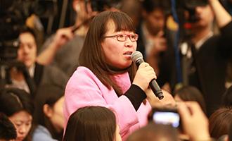 新京報記者提問