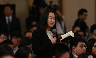 中央電視臺記者提問