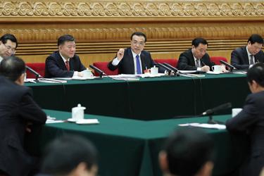 李克強參加陜西代表團審議