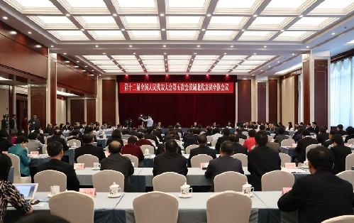 湖北代表團全體會議向媒體開放
