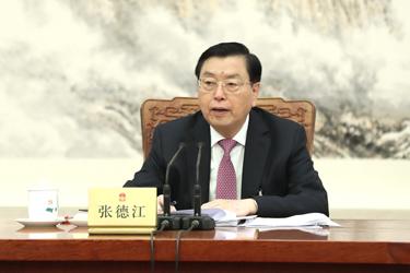 十二屆全國人大五次會議主席團常務主席第二次會議舉行 張德江主持
