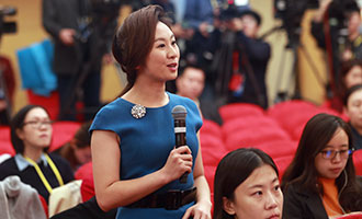 中國國際電視臺記者提問