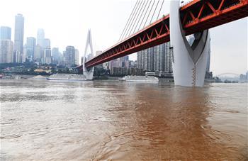 長江上遊最大洪峰過境重慶