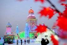 Visitors dazzled by Ice and Snow World in Harbin