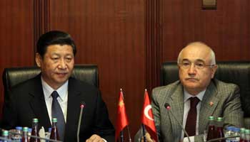 Chinese VP meets with Turkish Parliament Speaker