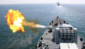 Chinese, Russian warships hold live ammunition exercise