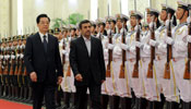 President Hu meets with visiting Iranian president