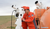 Drill ahead of return landing of Shenzhou-9 held in N China