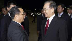 Chinese premier arrives in Vientiane for Asia-Europe Meeting, Laos visit