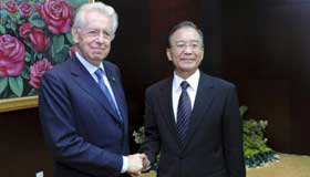 Chinese premier meets with Italian PM and Bulgarian president