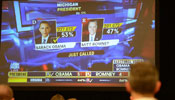 Journalists watch live broadcast of U.S. presidential elections