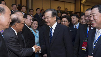 Premier Wen meets with overseas Chinese in Thailand