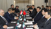 Chinese President Xi meets with Egyptian President Morsi in Durban