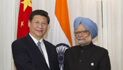 Chinese President Xi meets with Indian PM Singh in Durban