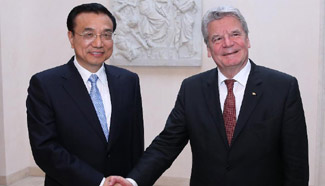 Chinese premier meets with German president in Berlin
