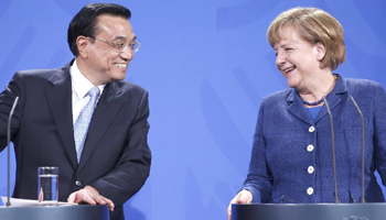 Chinese Premier, German Chancellor attend joint press conference in Berlin