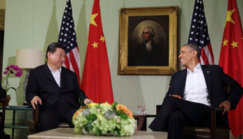 Xi, Obama meet press