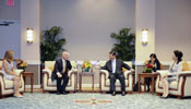Chinese president meets with governor of California in U.S.