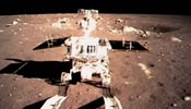 "China's moon rover ""Jade Rabbit"" separates from lander"