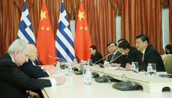 Chinese, Greek presidents eye enhanced cooperation