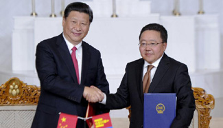 China, Mongolia sign joint declaration to upgrade bilateral ties