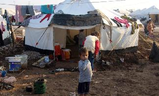 Daily life in Khanki camp of Iraq