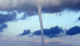Spectacular waterspouts seen on Qinghai Lake, NW China