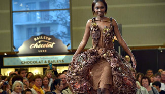 Chocolate fashion show held in Paris
