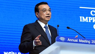 Premier Li delivers keynote speech at WEF