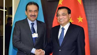Premier Li meets with Kazakh counterpart in Davos