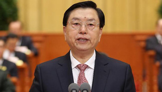 Zhang Dejiang presides over closing meeting of 3rd session of 12th NPC