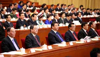 Top CPC and state leaders attend closing meeting of 3rd session of 12th NPC