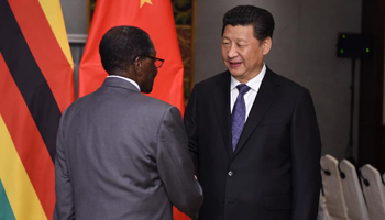 Chinese president meets Zimbabwean counterpart in Jakarta