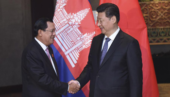 Chinese president meets Cambodian PM in Jakarta