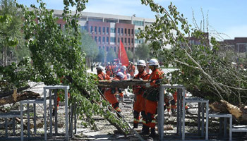 Simulation drill of emergency relief held in Yinchuan