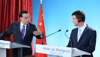 Premier Li, French counterpart attend joint press conference in Paris