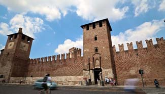 UNESCO world heritage site: Verona in N Italy