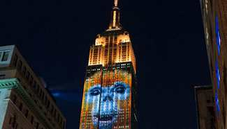 Empire State Building shines with light projections of endangered species