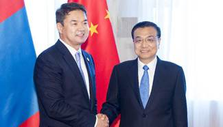 Chinese premier meets Mongolian PM