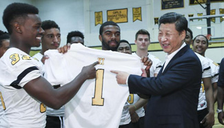 Xi Jinping visits Lincoln High School in Tacoma