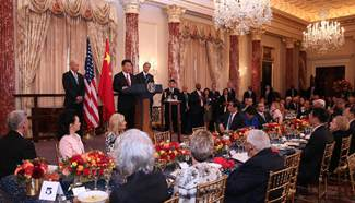Xi attends luncheon hosted by Biden, Kerry at State Department