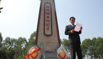 Chinese Ambassador to Vietnam delivers speech at Dao My Cemetery