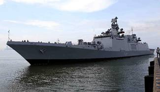 Indian naval warship arrives at Vietnam's port for visit