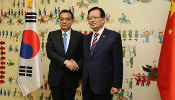 Chinese premier meets ROK national assembly speaker in Seoul
